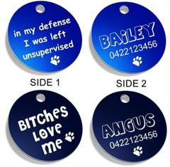 Funny Pet Tag examples