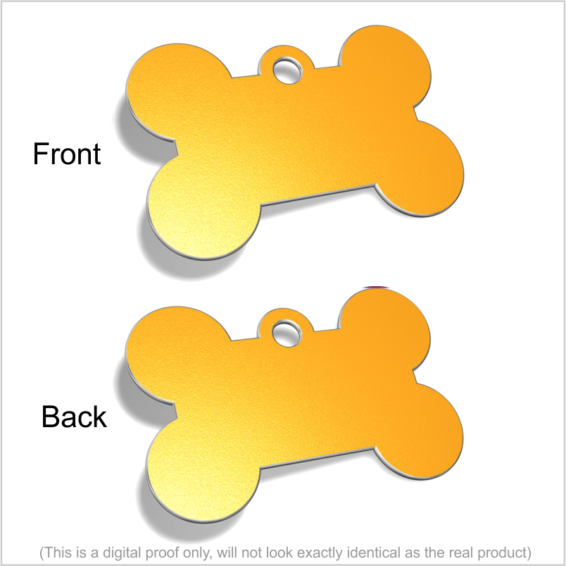 A TEST Designer Pet ID Tags (engraved both sides) Pet Tag Pet ID Tags GOLD SML STAR (28x28mm)