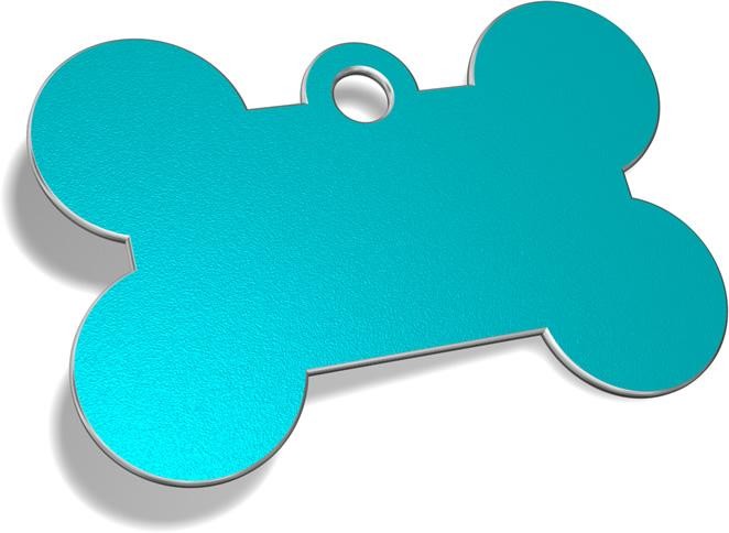 Bone Standard Pet ID Tag Pet Tag Pet ID Tags Light Blue