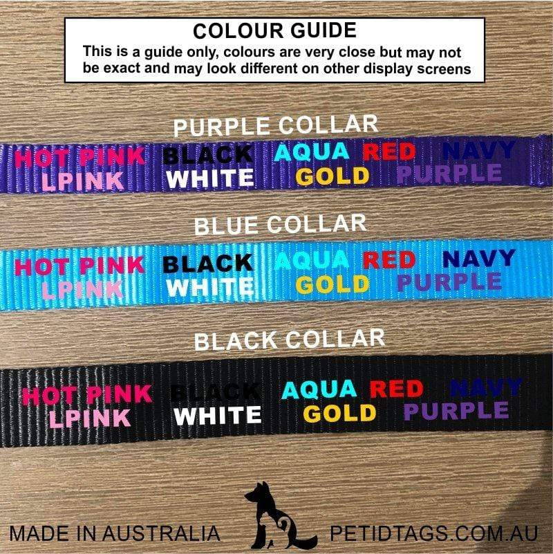 Custom Pet Collars Aussie Made Pet ID Tags