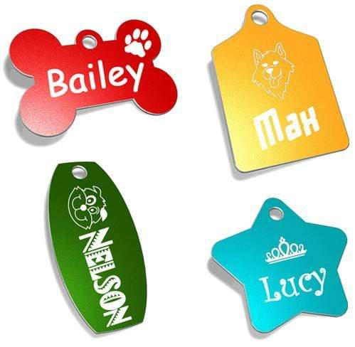 Designer Pet Tags - Buy 4 Deal Pet Tag Pet ID Tags