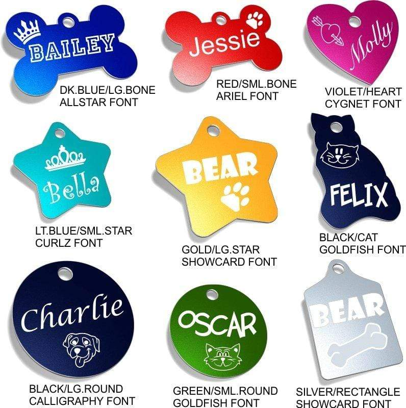 Engraved Pet ID Tags Pet Tag Pet ID Tags