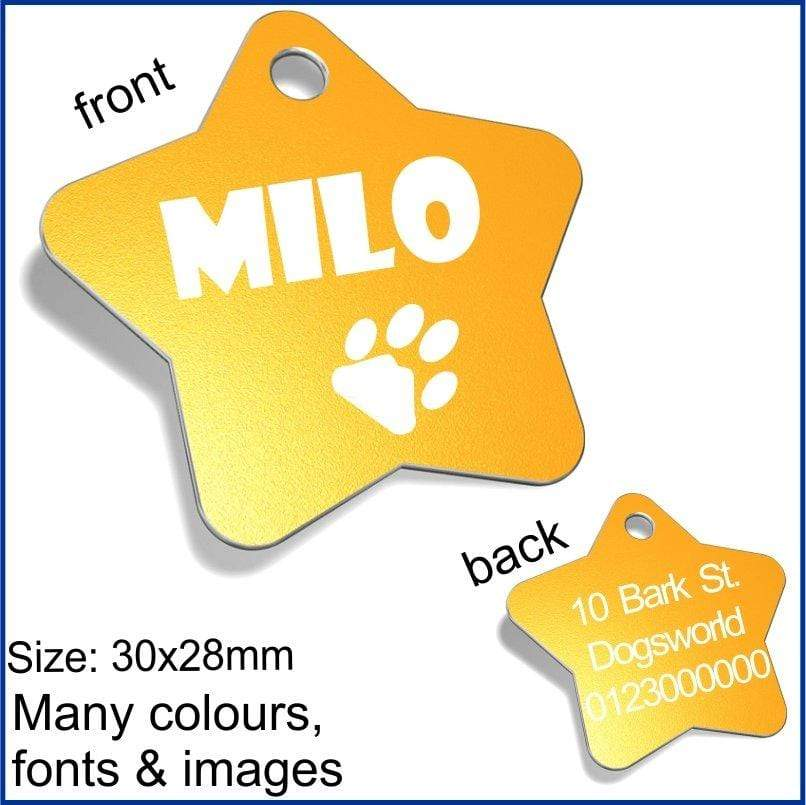 Star Designer Pet ID Tags Pet Tag Pet ID Tags