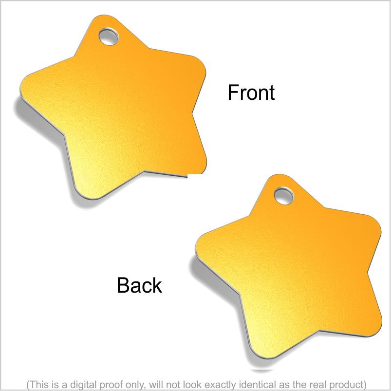 Star Designer Pet ID Tags Pet Tag Pet ID Tags Gold