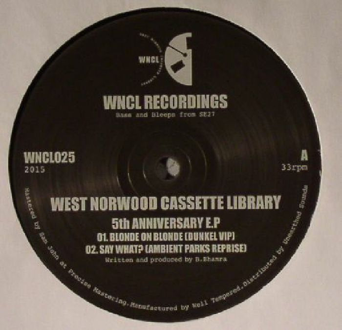 West Norwood Cassette Library '5th Anniversary EP 12""