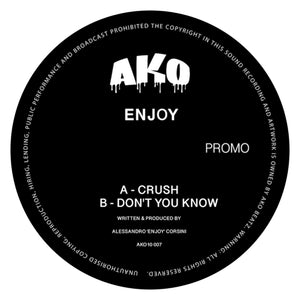 "Enjoy 'Crush / Don't You Know' 10"" (Smokey Vinyl)"