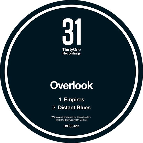 Overlook 'Empires / Distant Blues'  [black vinyl repress] 12""