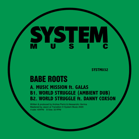Babe Roots 'Music Mission / World Struggle' 12""
