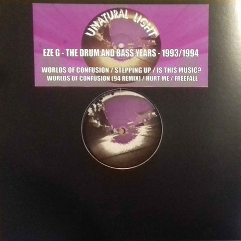 *PRE-ORDER* Eze G 'The Early Drum & Bass Years (1993/1994)' 2x12""
