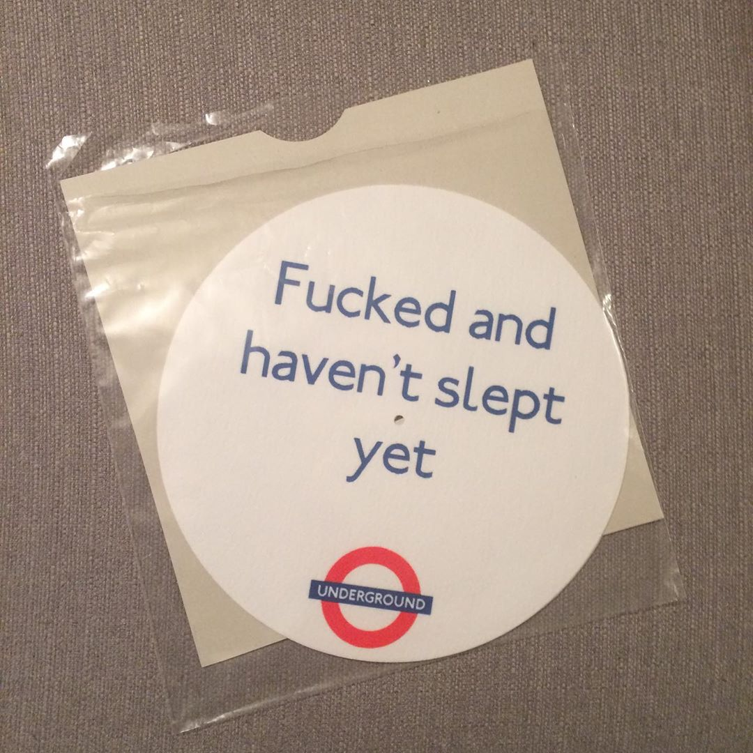 'F*cked and Haven't Slept' Slipmats (Pair)