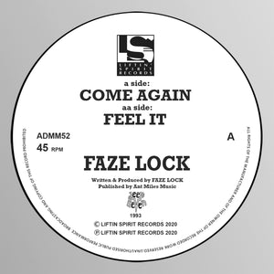 *PRE-ORDER* Faze Lock 'Come Again' b/w 'Feel It' 12""
