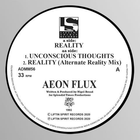 *PRE-ORDER* Aeon Flux 'Reality/Unconscious Thoughts/Reality (Alternate Reality Mix)' 12""
