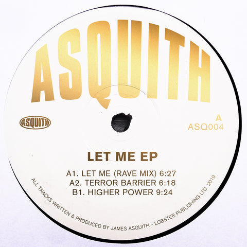 Asquith 'Let Me EP' 12""