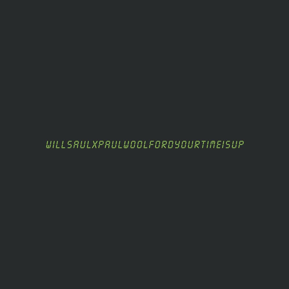 Will Saul x Paul Woolford 'Your Time Is Up' 12""