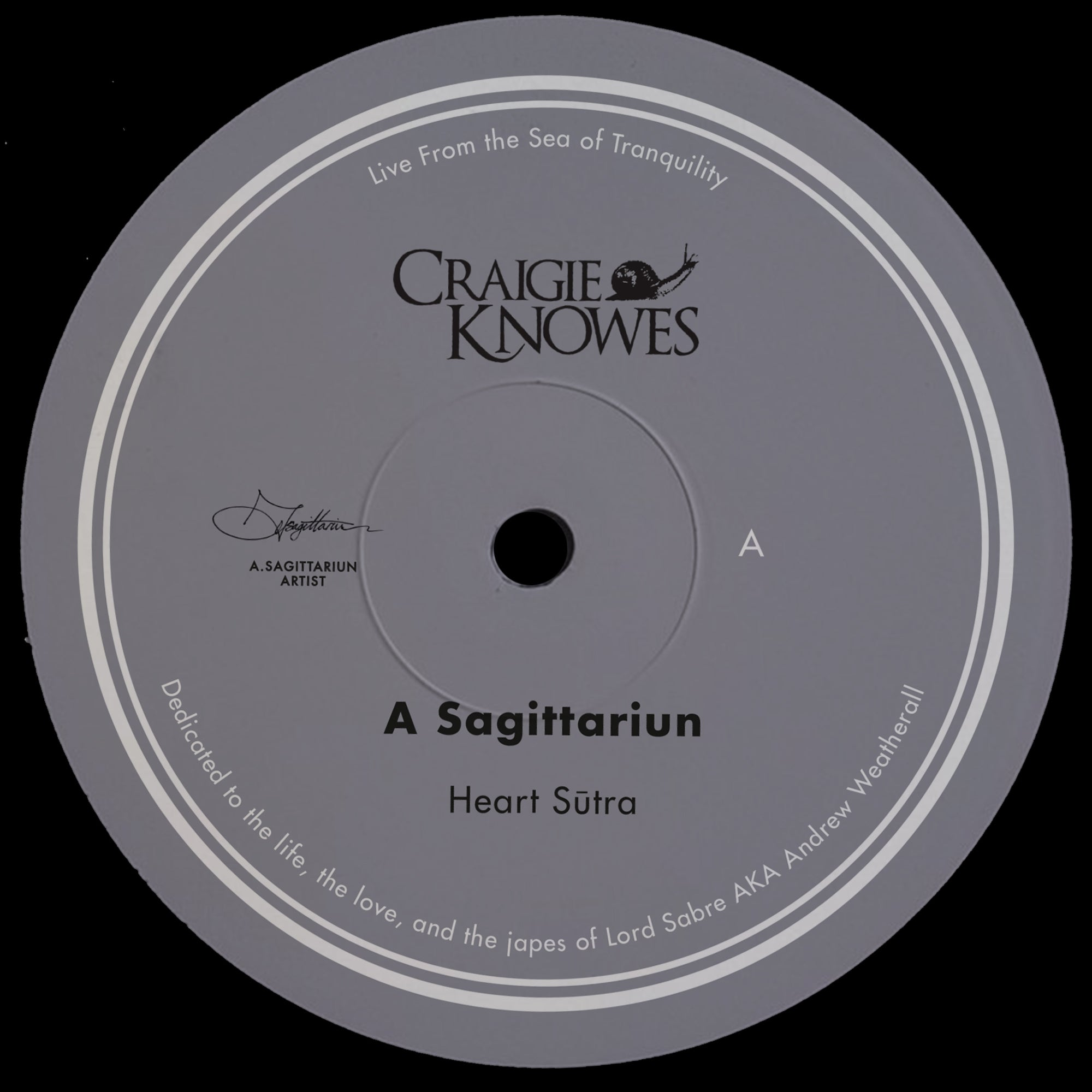 A Sagittariun 'Live From The Sea Of Tranquility' 12""