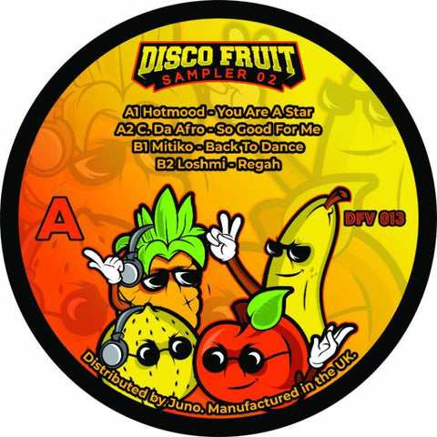 *PRE-ORDER* HOTMOOD / C DA AFRO / MITIKO LOSHMI 'Disco Fruit Sampler 02' 12""