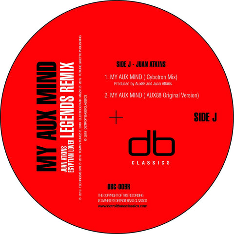Aux 88 'My Aux Mind (Cybotron & Egyptian Lover Remixes)' 12""