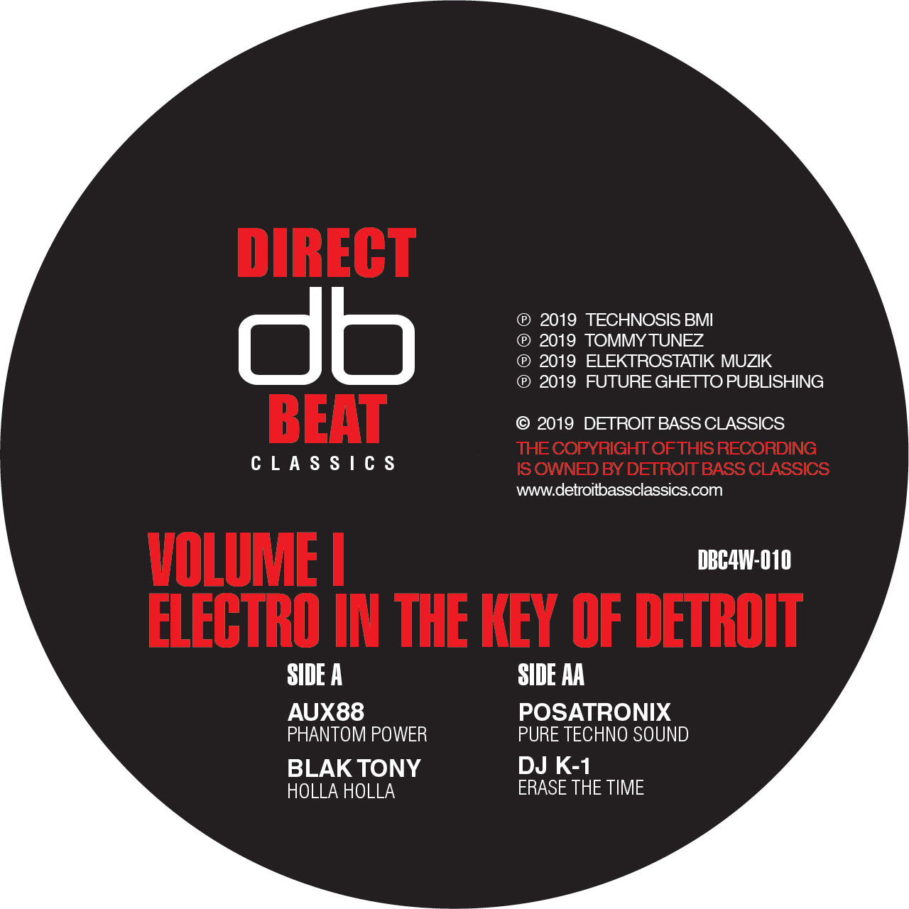 Various 'Electro In The Key Of Detroit Vol.1' 12""
