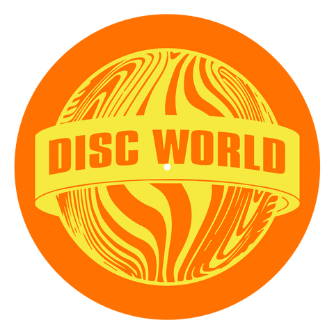 Disc World 'Yellow on Orange' Slipmat