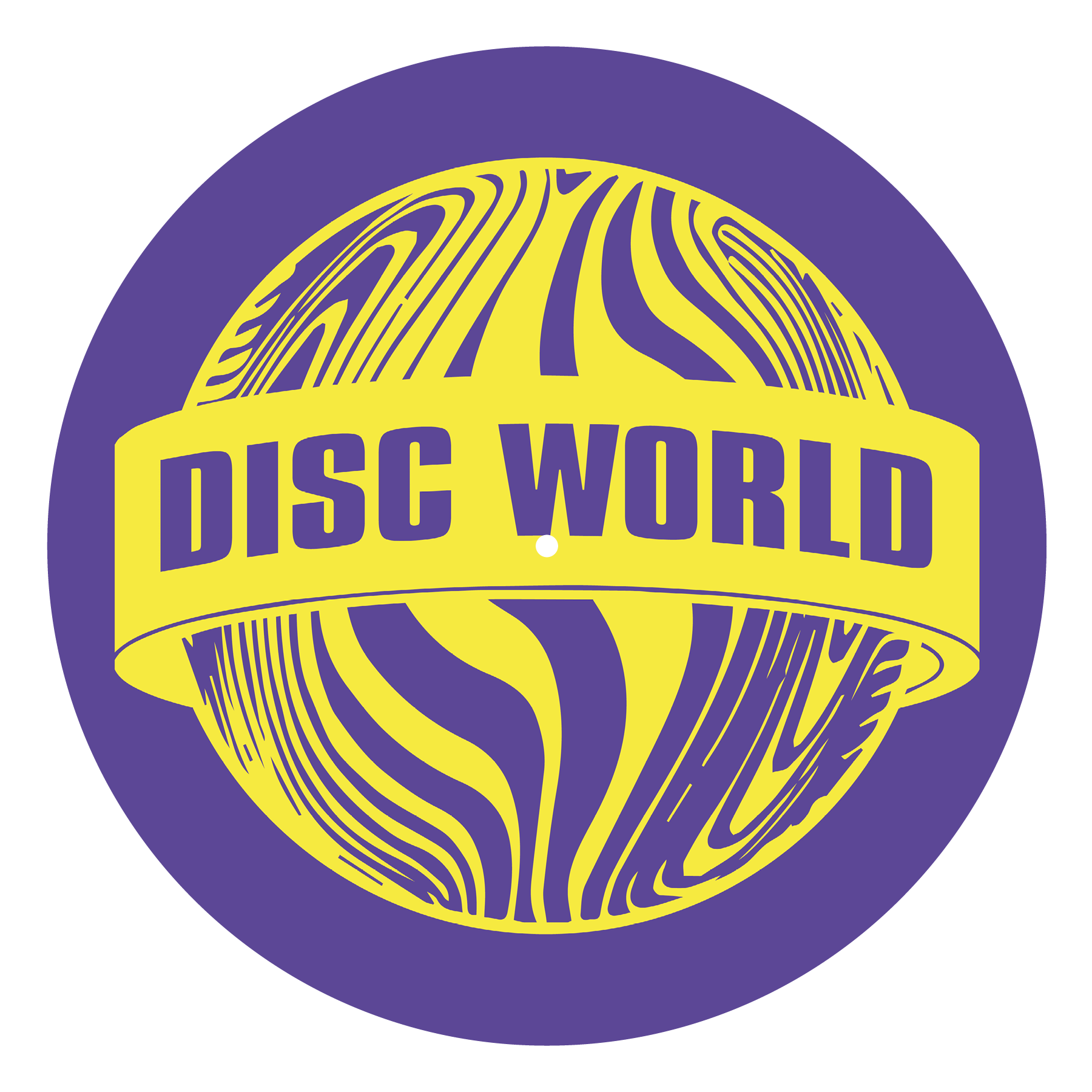 Disc World 'Yellow on Purple' Slipmat
