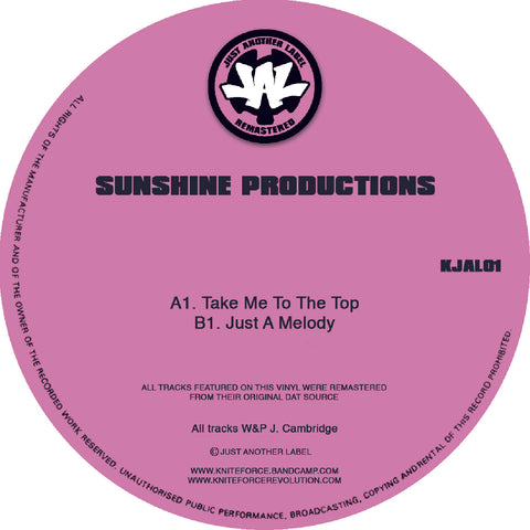 "*PRE-ORDER* Sunshine Productions 'Take Me To The Top' 12"" (Reissue)"