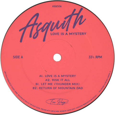 *PRE-ORDER* Asquith 'Love Is A Mystery EP' 12""
