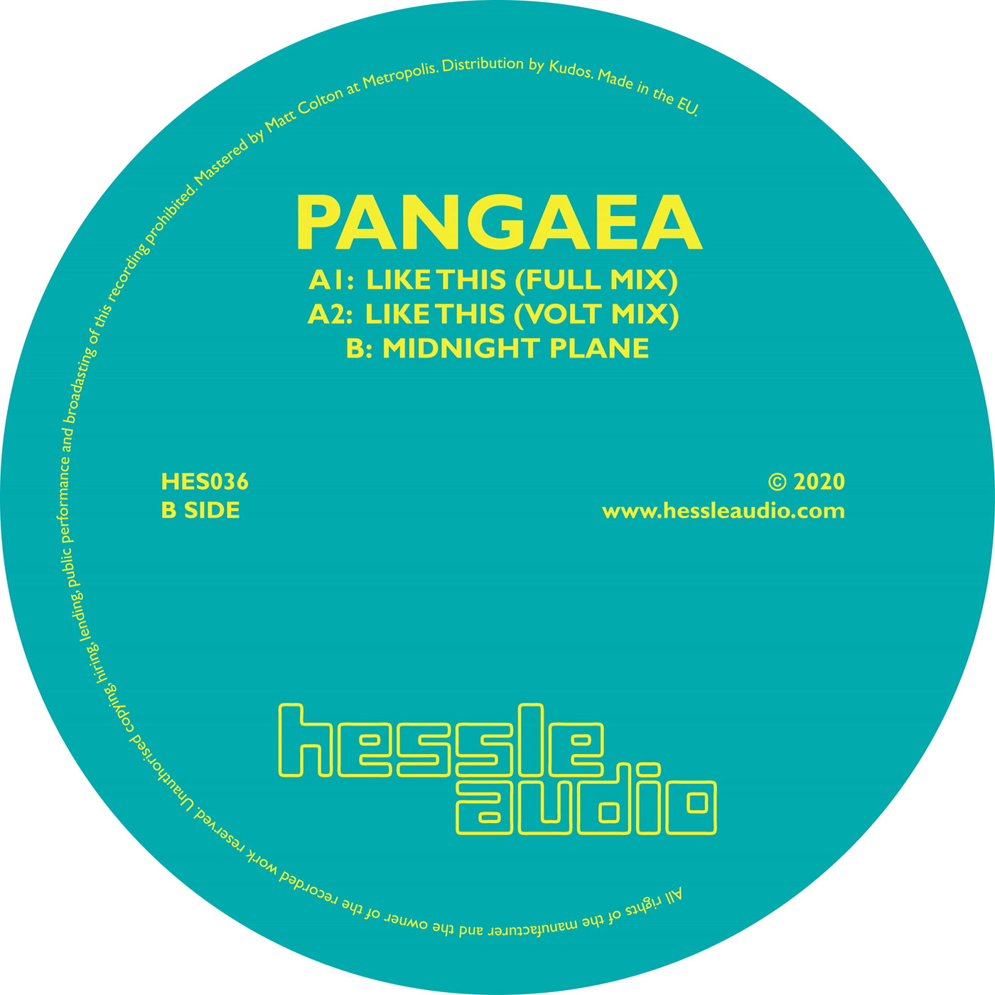 Pangaea 'Like This' 12""