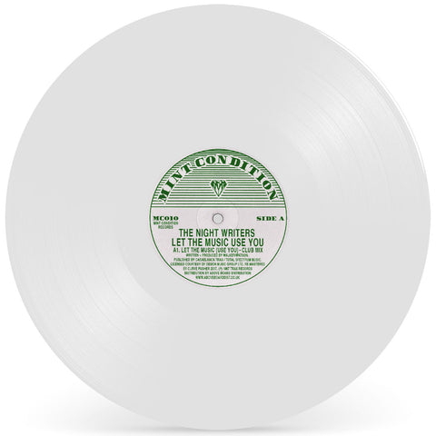 "The Night Writers 'Let The Music (Use You)' 12"" (White Vinyl Repress)"