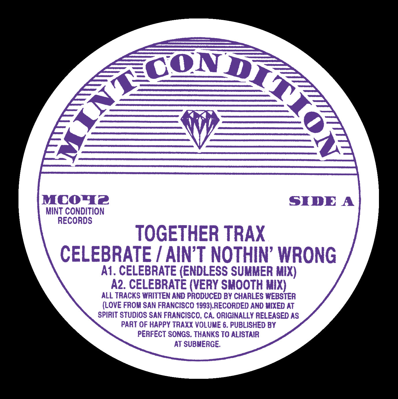 Together Trax 'Celebrate / Ain't Nothin' Wrong' 12""