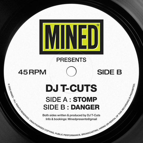 DJ T-Cuts 'Stomp / Danger' 12""