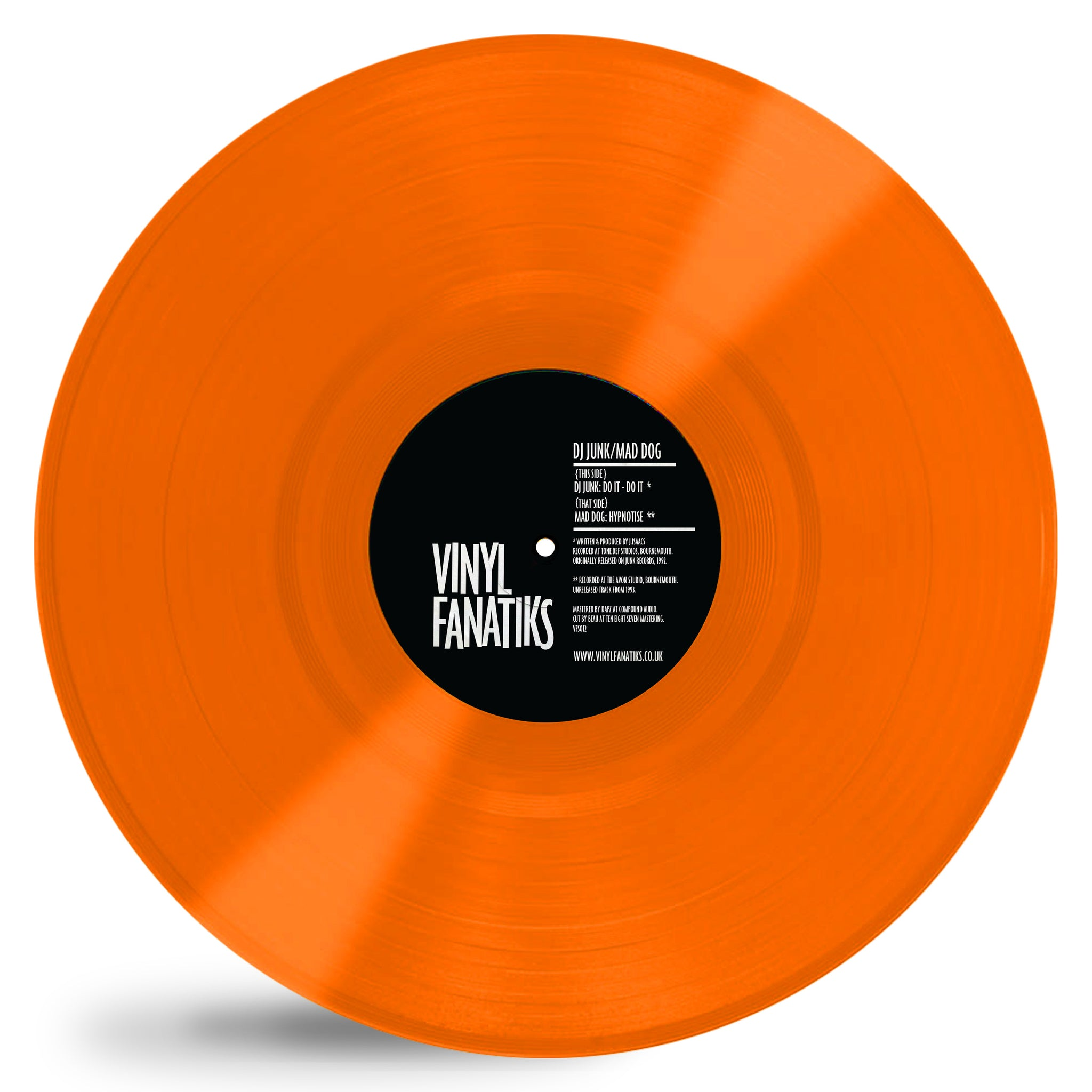 "DJ Junk & Mad Dog 'Do It / Hypnotise' 12"" (Orange Vinyl)"