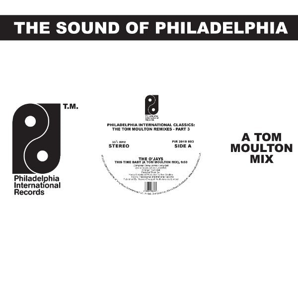 Various Artists 'Philadelphia International Classics - The Tom Moulton Remixes: Part 3' 2x12""