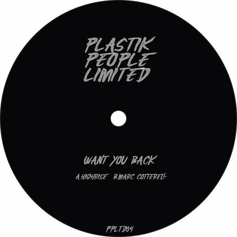 *PRE-ORDER* Highrise / Marc Cottrell 'Want You Back' 12""