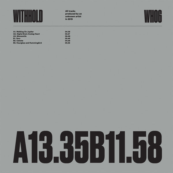 Unknown Artist 'WH06' 12""