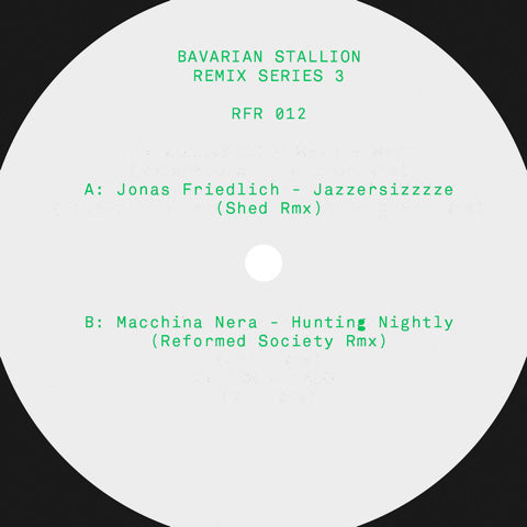 *PRE-ORDER* RFR-Records - Various Artists 'Bavarian Stallion Remix Series 3' 12""