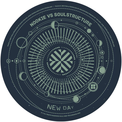 "Nookie & SoulStructure / The Invisible Man  'New Day' 12"" (Repress)"