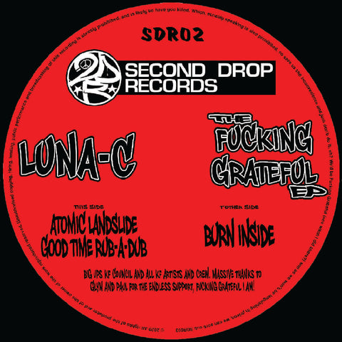 *PRE-ORDER* Luna-C 'The Fucking Grateful EP' 12""