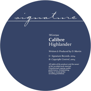 Calibre 'Mr. Maverick / Highlander' 12""
