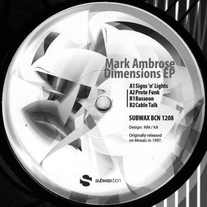 Mark Ambrose 'Dimensions EP' 12""