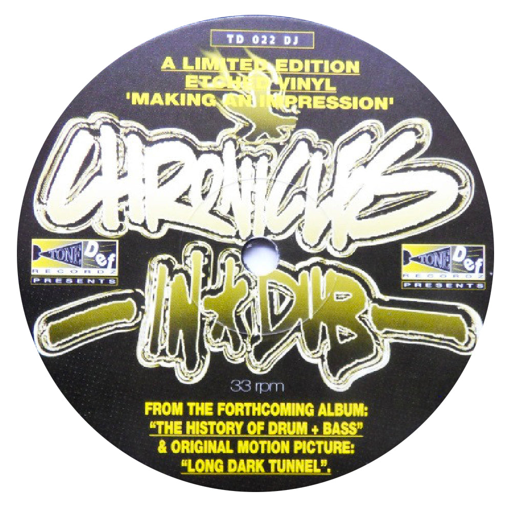 "2 Dreads In A Dub 'Chronicles In Dub' 12"" (Single Sided / Etched)"