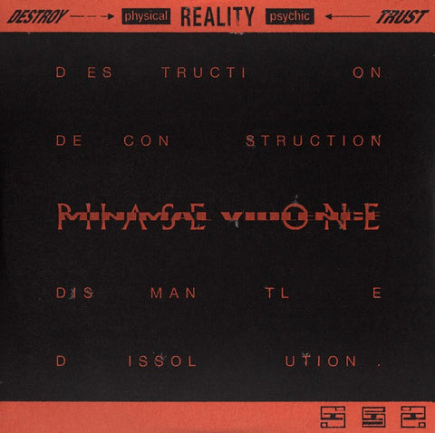 *PRE-ORDER* Minimal Violence 'DESTROY ---> [physical] REALITY [psychic] <--- TRUST Phase One' 12""