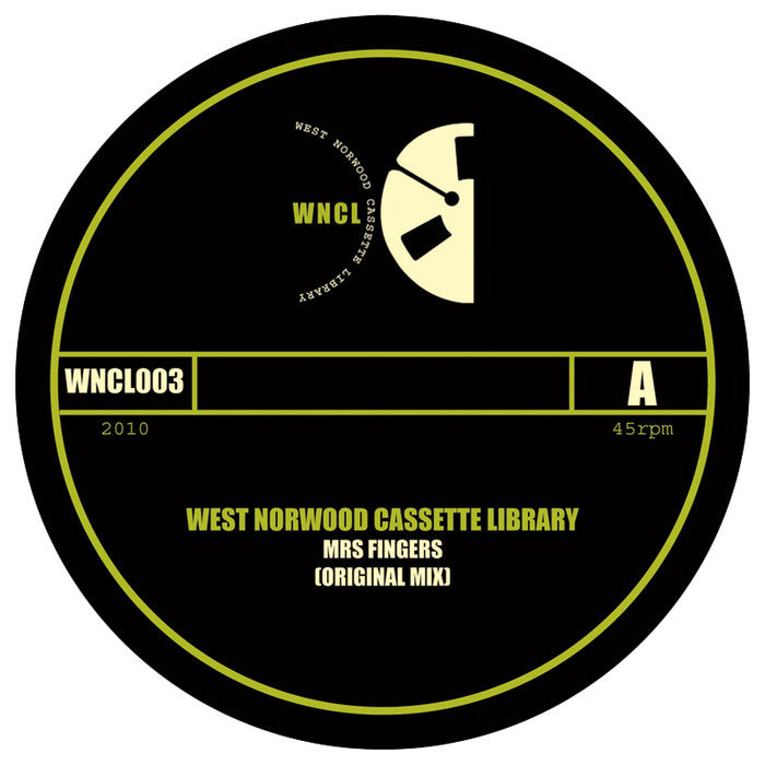 West Norwood Cassette Library 'Mrs Fingers' 10""