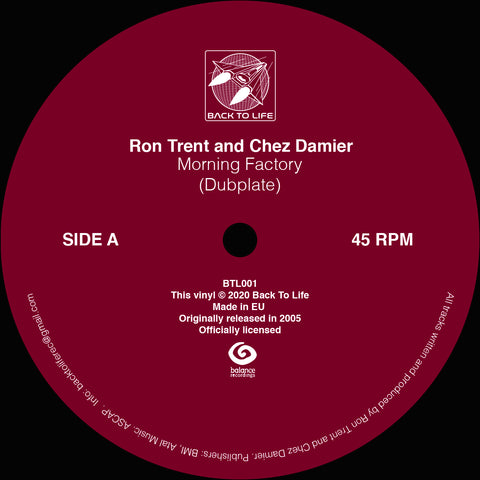 Ron Trent and Chez Damier 'Morning Factory (Dubplate)' 12""