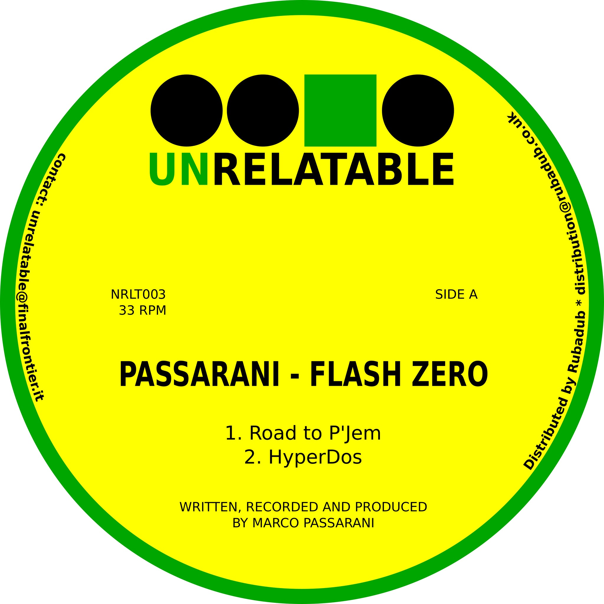 Passarani 'Flash Zero' 12""