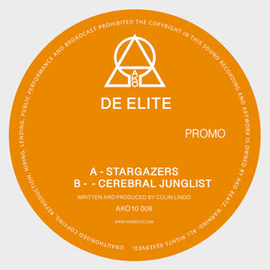 "De Elite 'Stargazers / Cerebral Junglist' 10"" (Orange Vinyl)"