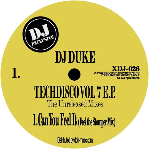 DJ Duke 'Techdisco Vol. 7 E.P (The Unreleased Mixes)' 12""