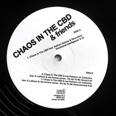 *PRE-ORDER* Chaos In The CBD and Friends 'Emotional Intelligence / It's Up To Me' 12""