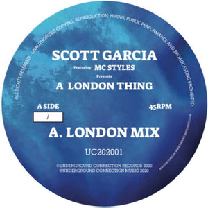 Scott Garcia 'A London Thing / 4 The Ladies 12' (Blue / White Marbled Viny)