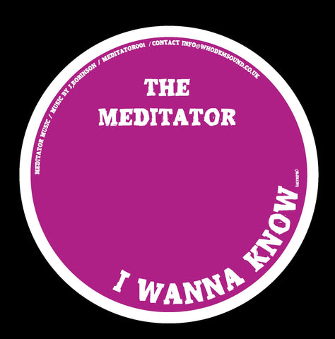The Meditator 'I Wanna Know' 12'' *REPRESS*