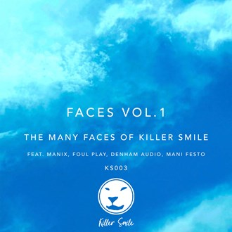 Various 'Faces Vol.1: The Many Faces of Killer Smile' (Blue & White Marbled Vinyl)